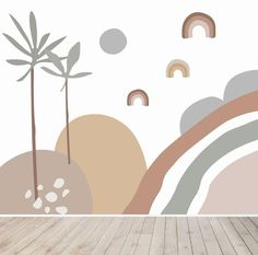 Abstract Wren Wallpaper Mural for Children's spaces | Munks and Me