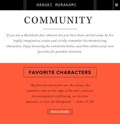Haruki Murakami - Site of the Day December 27 2014