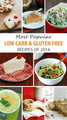 10 Most Popular Low Carb Gluten Free Recipes of 2014 to start 2015 right! #glutenfree #healthy #recipe #gluten #recipes