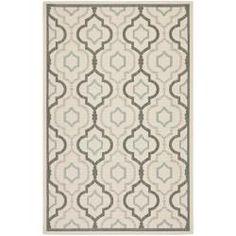 Poolside Beige/ Dark Beige Indoor Outdoor Rug (6'7 x 9'6) | Overstock.com Shopping - Great Deals on Safavieh 5x8 - 6x9 Rugs