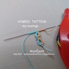 Search Post: Tatting | LaptrinhX / News Needle Tatting, Tatting Lace, How To Do Splits, Split Ring, Crochet Hooks, Knots, Crochet, Buttons