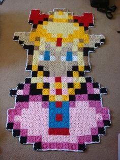 crochet granny-square zelda afghan