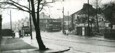 Chorley Old Road with Whitecroft Road to the left 1940s