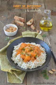 curry de butternut à la cacahuète et coco vegan