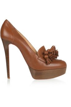 Christian Louboutin Agence 140 tasseled leather pumps   THE OUTNET