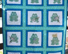 Cross Stitched Ducky Baby Quilt by InnovativeCreate on Etsy