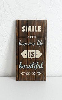 Tabuľky - Dekorácia na stenu LIFE IS BEAUTIFUL - 5690745_