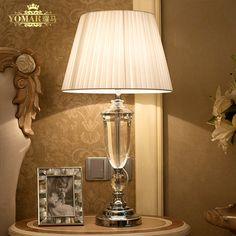 Abajur de mesa lamparas avrupa kısa kristal başucu lambası abajur sala Aydınlatma kristal lamba kısa modern kristal masa lambası