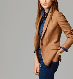 99 Stylish Blazer Outfits Ideas For Women – – Professional Office İdeas Camel Blazer, Blazer Outfits For Women, Blazer Jeans, Look Blazer, Casual Work Outfits, Mode Outfits, Office Outfits, Work Casual, Blazers For Women