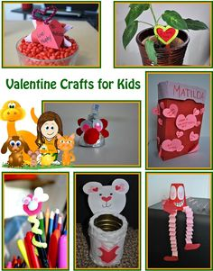Learn tons of fun and easy Valentine crafts for kids!!
