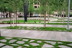 Downtown Seattle isn't fully lined with concrete - here's an example of great landscape design in a populated commercial area. @Jill Meyers Meyers Jackson Norris Federal Court in Seattle by PWP Landscape Architecture