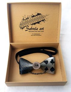 Alice in wonderland bow tie alice wedding theme groom bike Alice In Wonderland Wedding Theme, Silver Bow Tie, Tie Shop, Best Bow, Paper Gift Box, Book Lovers Gifts, Magpie, Bow Ties, Smooth Leather