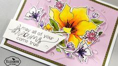 Elizabeth Craft Designs Dreamy Floral Bouquet with Zig Clean Color Real ...