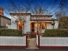 wellington street flemington - lots of lovely double fronted weatherboard houses were built before WW2 and preserved.
