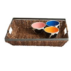 Serve canapes and cocktails in style with this woven abaca tray, showcasing 2 handles and a metal frame.   Product: Serving tray