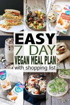 Easy Vegan Meal Plan with Shopping List It's never the wrong time to get your healthy diet started. This vegan meal plan is so easy, and includes breakfast, lunch and dinner ideas. Plus a shopping list for easy vegan meal prep! Vegetarian Meal Prep, Vegan Meal Plans, Vegetarian Italian, Ketogenic Diet Meal Plan, Keto Meal Plan, Diet Menu, Paleo Diet, Vegan Recipes Easy, Diet Recipes