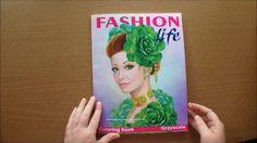 Fashion Life by Alena Lazareva (Grayscale) Colouring Book flip through