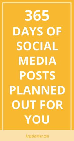 Not sure what to post on social media? The 2018 Social Media Content Calendar does it for you. It's 365 days of social media content planned out - saving you time and stress! via @angiegensler #socialmedia #socialmediamarketing