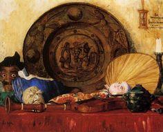 james ensor art | Nature morte et accessoires, huile de James Ensor (1860-1949)