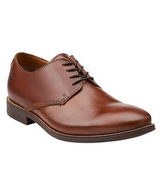 This Cognac Novato Plain Leather Oxford by Clarks is perfect! #zulilyfinds