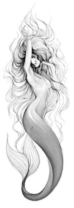 Sirene tattoo - Sirene tattoo You are in the right place about Sirene tattoo Tattoo Design And Style Galleries On Th - Tattoo Painting, Tatoo Art, Body Art Tattoos, Tattoo Drawings, New Tattoos, Tattoos For Guys, Art Drawings, Belly Tattoos, Forearm Tattoos