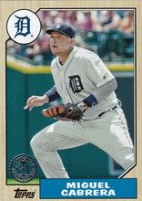 2017 Topps Series 1 Baseball 1987 #87-15 Miguel Cabrera - Detroit Tigers