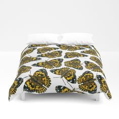 Painted lady butterfly pattern Duvet Cover