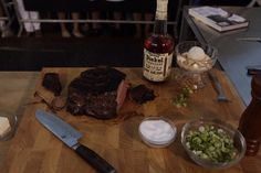 Barbecue master Adam Perry Lang appeared on an episode of Jimmy Kimmel Live this week to share this delicious new recipe for monster chuck roll steaks with a whiskey caramel sauce.
