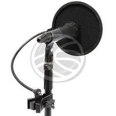 Pantalla para micrófono anti-viento (o filtro pop para micrófono). Excelente filtro para microfonos de condensador. Ideal para tu estudio de grabacion, elimina el molesto sonido explosivo de la voz. Diámetro de la pantalla de 16cm. Brazo flexible de 30cm. Modelo con fijación tipo pinza.