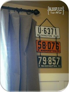 Maybe something like this? DIY License Plate Wall Art - by 'Blissfully Domestic'
