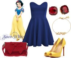 """Snow White Disney Princess Prom Outfit"" by natihasi on Polyvore"