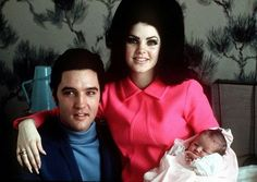 Recalling Elvis Presley on his 80th birthday | Lisa Marie Presley is born Elvis Presley poses with wife Priscilla and daughter Lisa Marie, in a room at Baptist hospital in Memphis, Tenn., February 05, 1968. (AP photo)