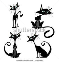 cartoon cats vector