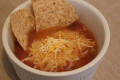 Chicken Tortilla Soup Crock-Pot recipe. Ro-Tel is a brand of canned tomatoes/green chilis.