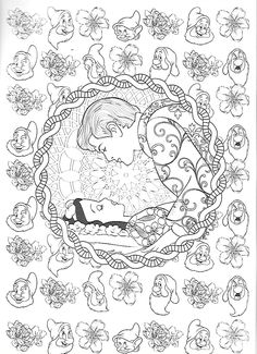 Snow White Coloring Pages, Lds Coloring Pages, Cartoon Coloring Pages, Coloring Books, Disney Princess Coloring Pages, Disney Princess Colors, Disney Colors, Disney Scrapbook Pages, Disney Tattoos