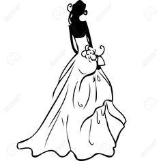 wedding dress silhouette clip art the wedding design guide rh pinterest com wedding dress clip art silhouette wedding dress clip art images