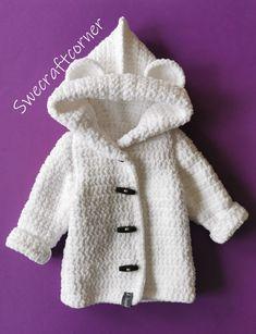 Boy Crochet Patterns, Crochet Baby Sweater Pattern, Crochet Baby Jacket, Crochet Baby Sweaters, Baby Sweater Patterns, Free Baby Sweater Knitting Patterns, Free Baby Patterns, Baby Booties Free Pattern, Knitting Stitches
