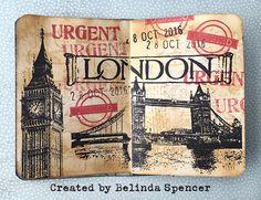 Artist Trading Card booklet using Darkroom Door Stamps