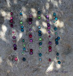 Bracelets acidulés roses et turquoises