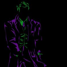 Purple and Green: Joker Mean  by Airynuh    ART PRINT