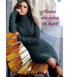Comment porter des robes en hiver ? Basic Outfits, Trendy Outfits, Wool Dress, Knit Dress, Women's Dresses, Winter Dresses, Winter Outfits, Crochet Beach Dress, Mode Chic