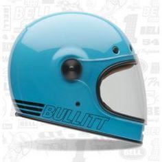 BULLITT RETRO BLUE HELMET - LCS Motorparts