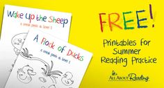 FREE Printables for Summer Reading Practice from All About Reading (SIX sets of free printables!)