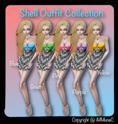 Shell Collection Outfits available in iMMuneC's Catalog @ IMVU (http://www.imvu.com/shop/web_search.php?manufacturers_id=18004583)