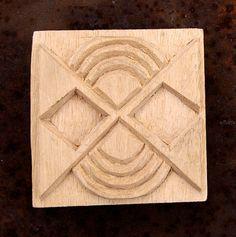Carved Textile Stamp, African Design, Oshiwa Wood Printing Block, Item 10-12-19. $16,00, via Etsy.