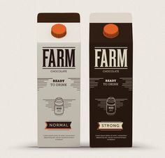 FARM Chocolate Milk (Concept) on Packaging of the World - Creative Package…