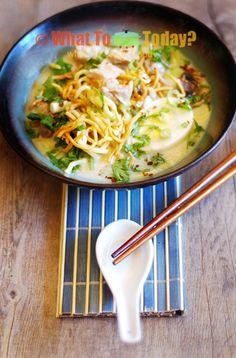 Burmese Coconut Chicken Noodle Soup | ohn-no-khao-swe | Recipe ...