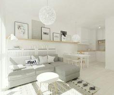 Sala e cozinha pequena