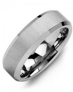 #Bague pour homme Madani / Tungsten 7 mm Grandeur 10