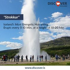 #Storkkur: Iceland's most energetic hot spring, it erupts every 5-10 min at a height of 10-20 Meter #Icelandtour #hotspring #Iceland #Discovericeland